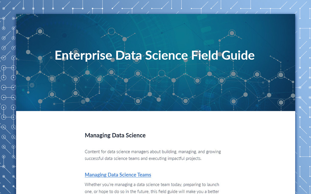 Enterprise Data Science Field Guide