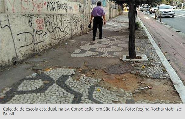 Imagem destacada do post Nenhuma capital brasileira oferece calçadas de qualidade, aponta levantamento
