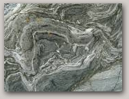 Folding crystalline limestone, Laxo.  Copyright Jenny Murray  » Click to zoom ->