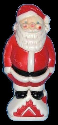 Santa On Roof photo