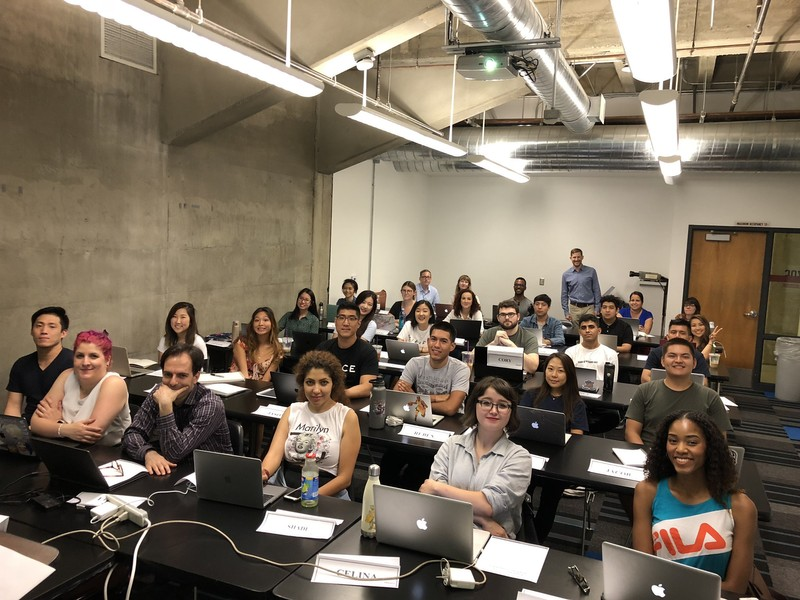 Students at a boot camp at the UCLA Extension school