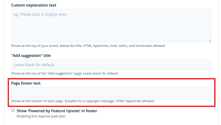 Changing page footer
