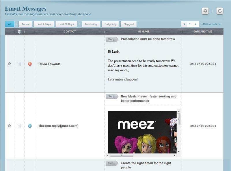 panel penyadap aplikasi email