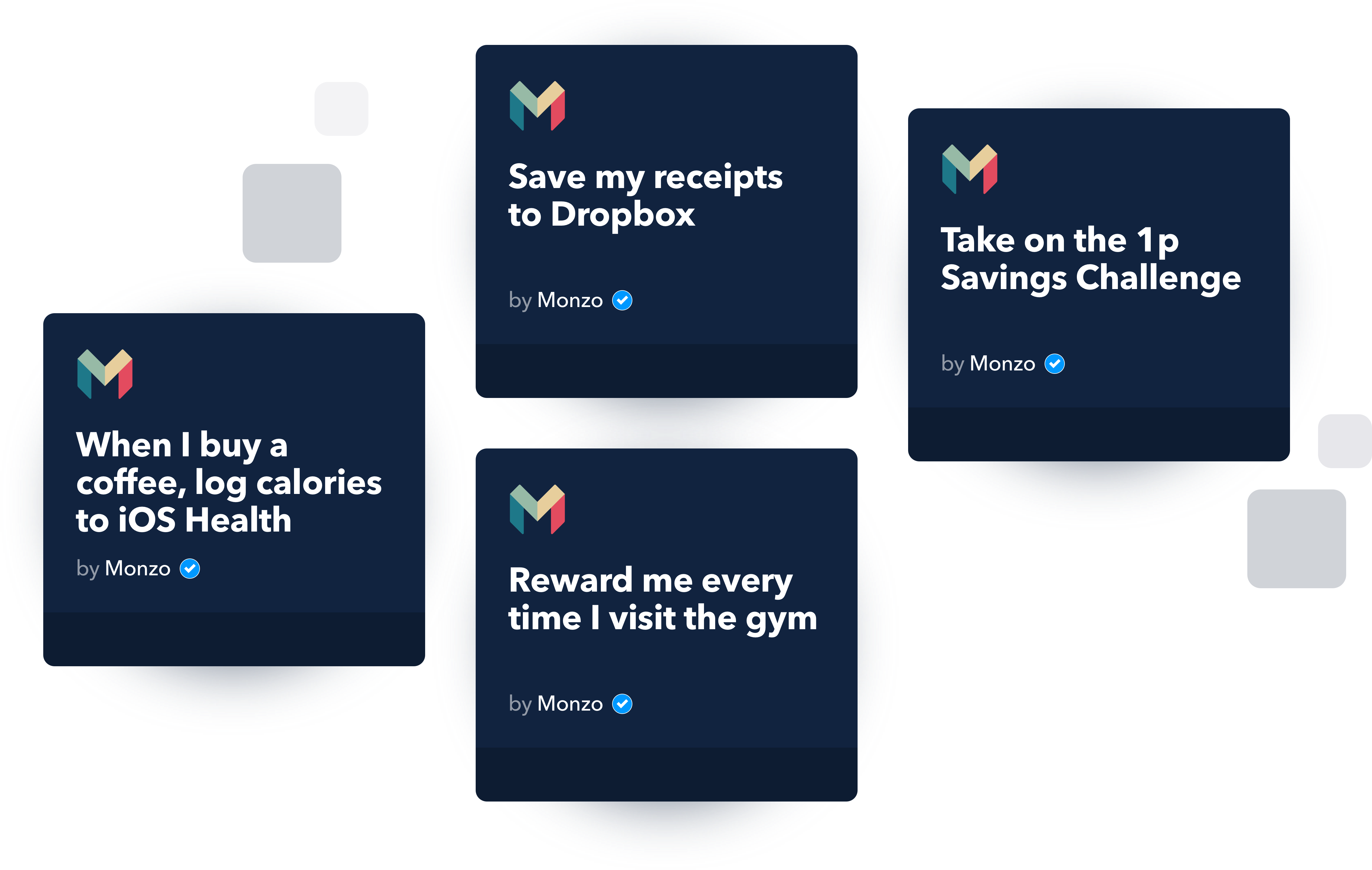 Selection of Monzo x IFTTT Applets