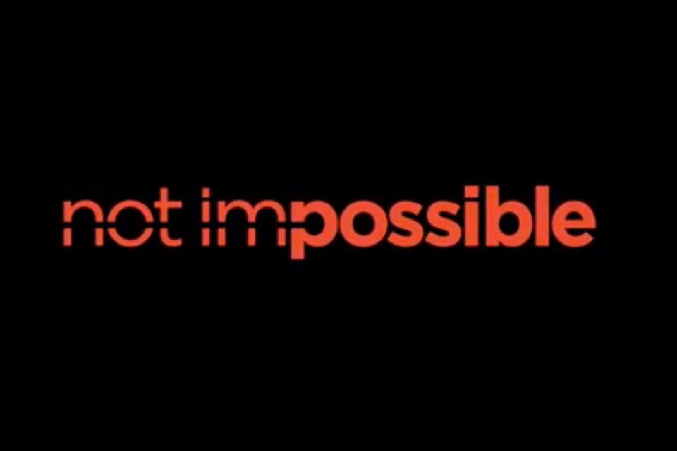 Not Impossible written in red