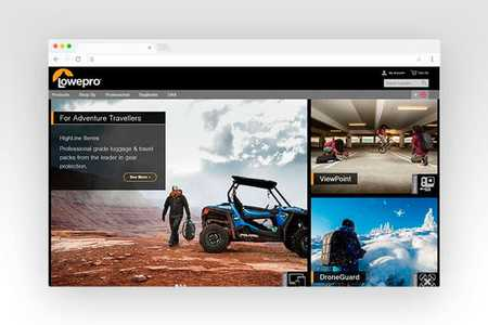 Web design for Lowepro