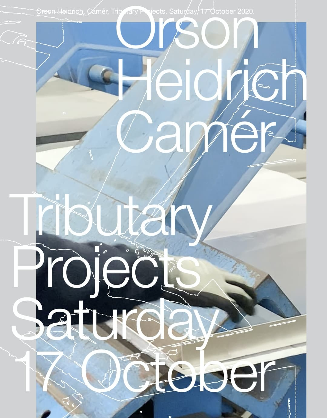 Orson Heidrich Camer digital exhibition flyer one
