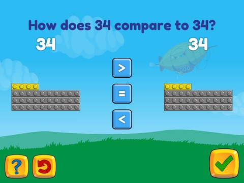 Compare two 2-digit numbers within 100 Math Game
