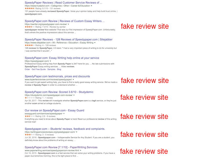 speedypaper.com review search in google mostly contains fake sites