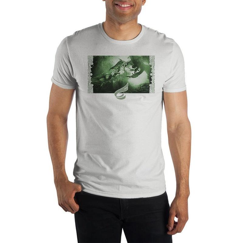 Monster Hunter Rathalos Anjanath White T-shirt Wear