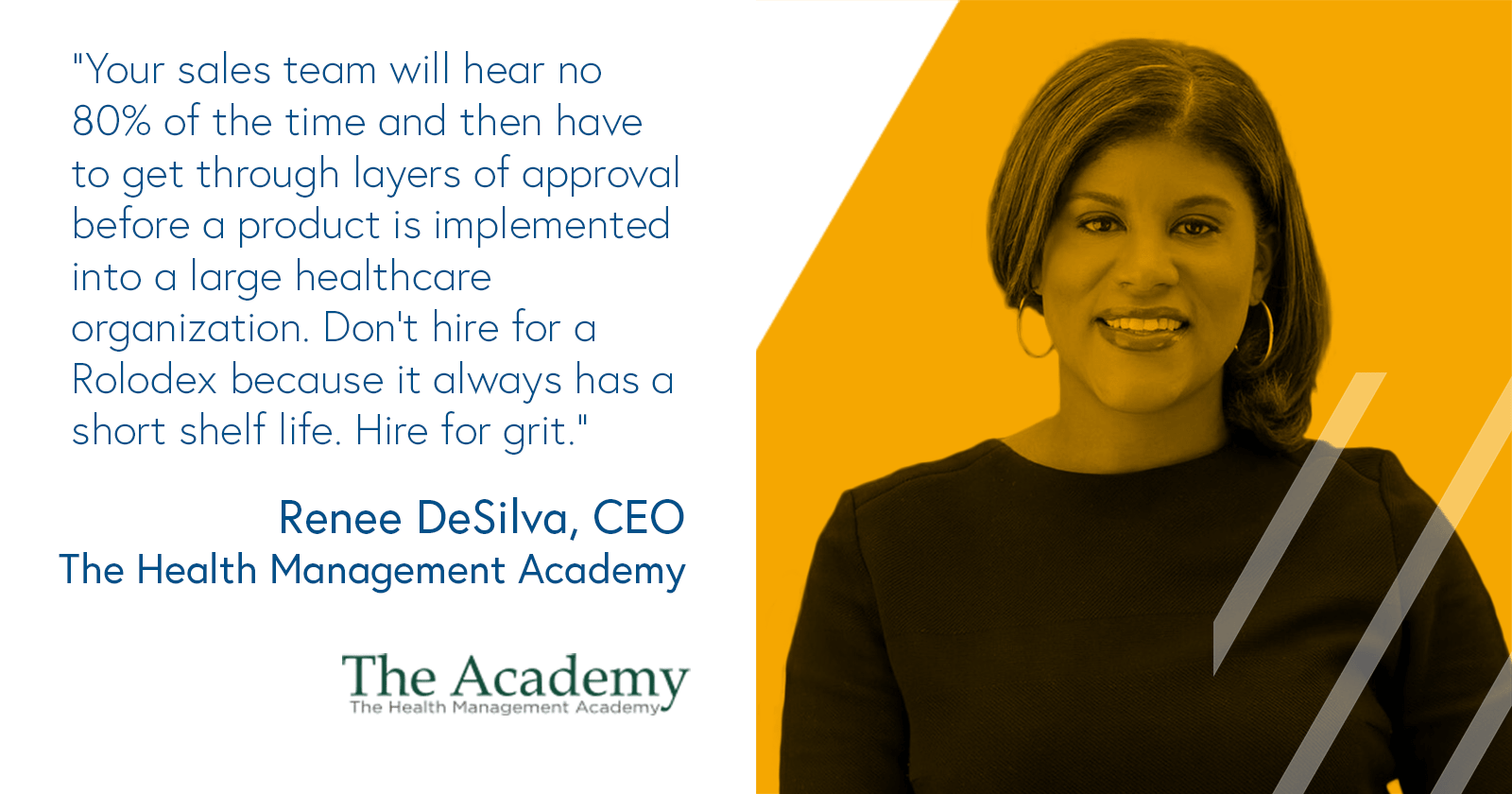Renee DeSilva, CEO The Health Management Academy