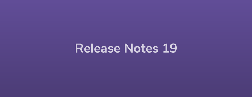 Release Notes: DevRel19
