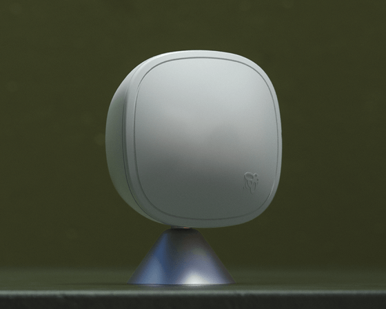 The SmartSensor (pictured) has an enhanced look for enhanced performance, detecting occupancy and temperature faster and from further away.