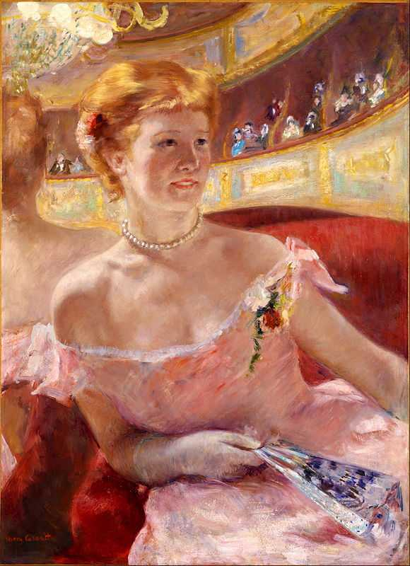 'Woman with a Pearl Necklace in a Loge', 1879, oil on canvas, 81 x 60 cm, Philadelphia Museum of Art