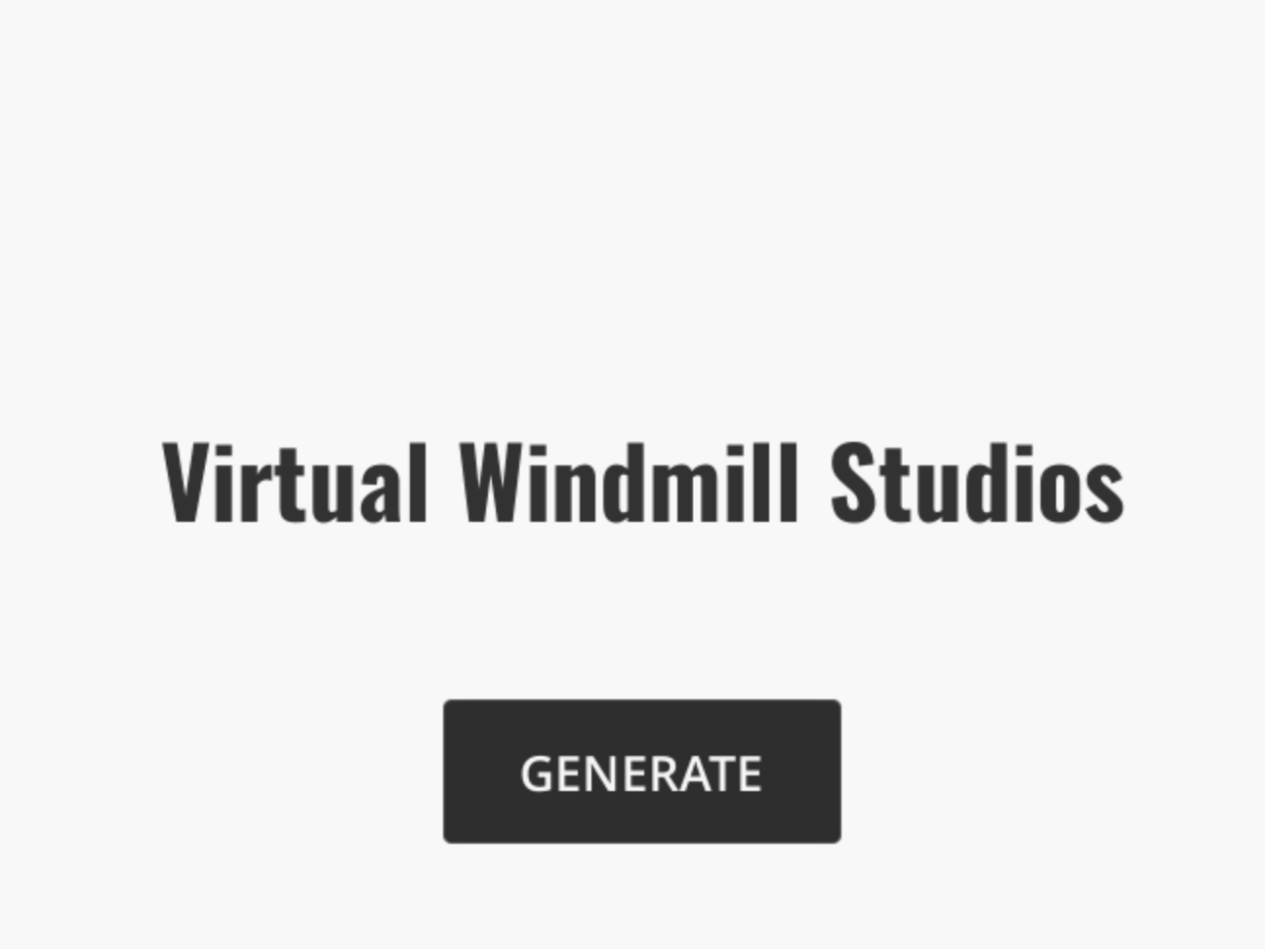 Generated VR Game Studio Name