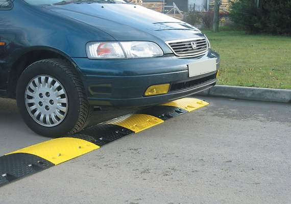 Plastic Speed Ramp with Car Crossing