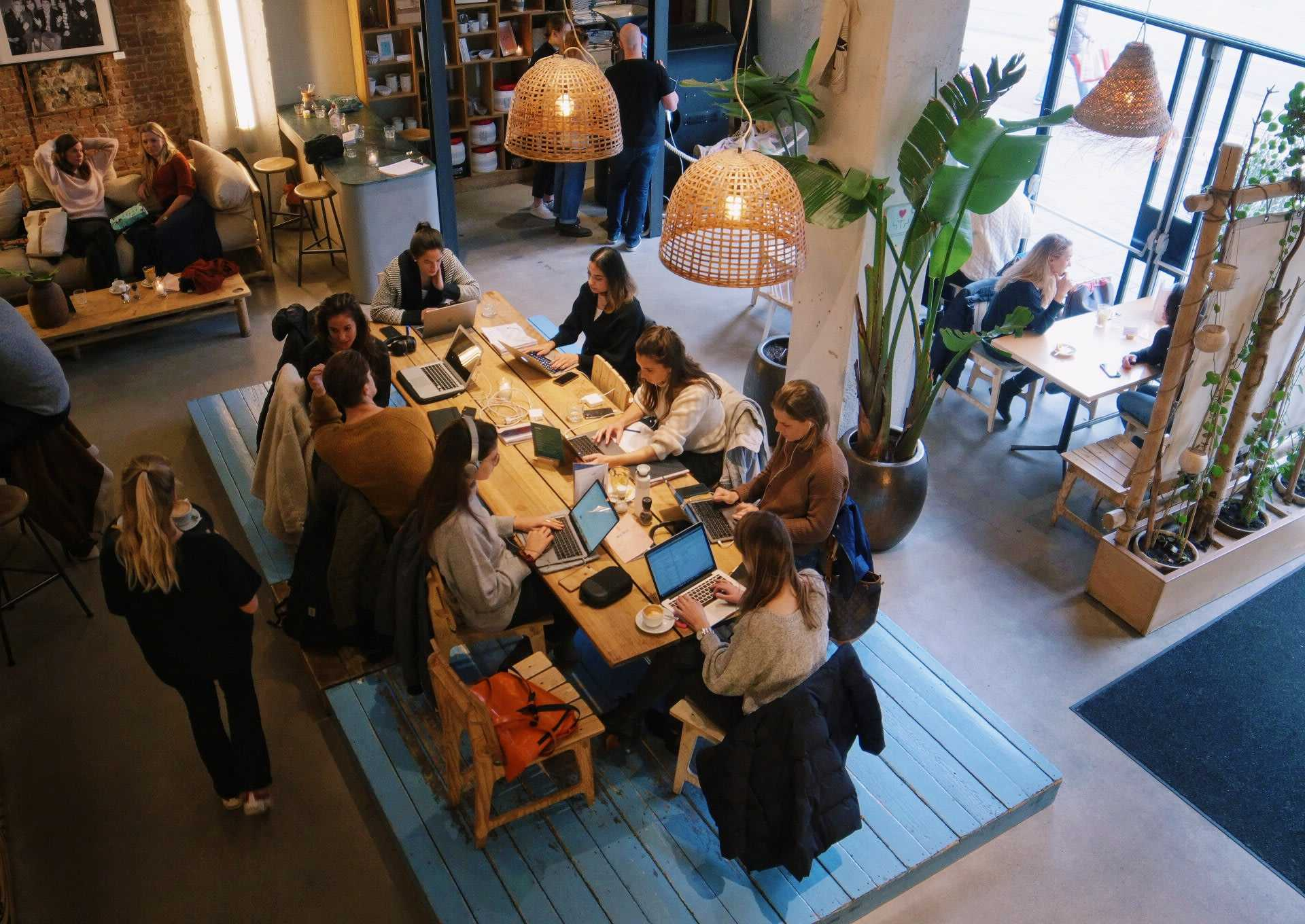 Sustainable café Coffee & Coconuts in Amsterdam attracts a steady stream of young, conscious consumers.