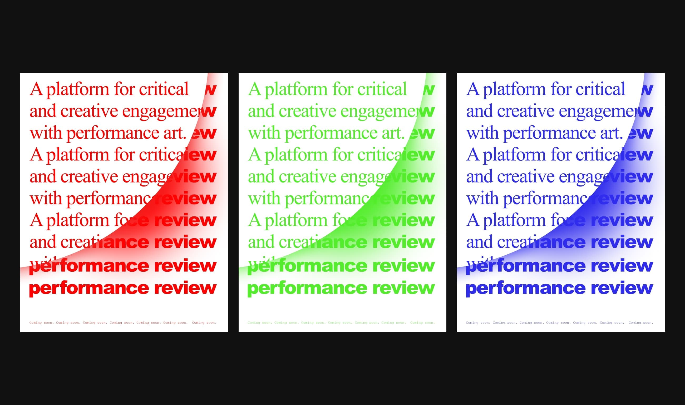 Performance Review coming soon poster