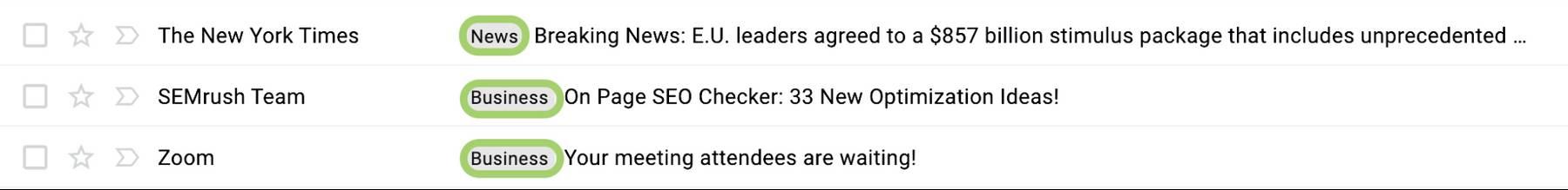 Example of semi-unstrcutured data: emails