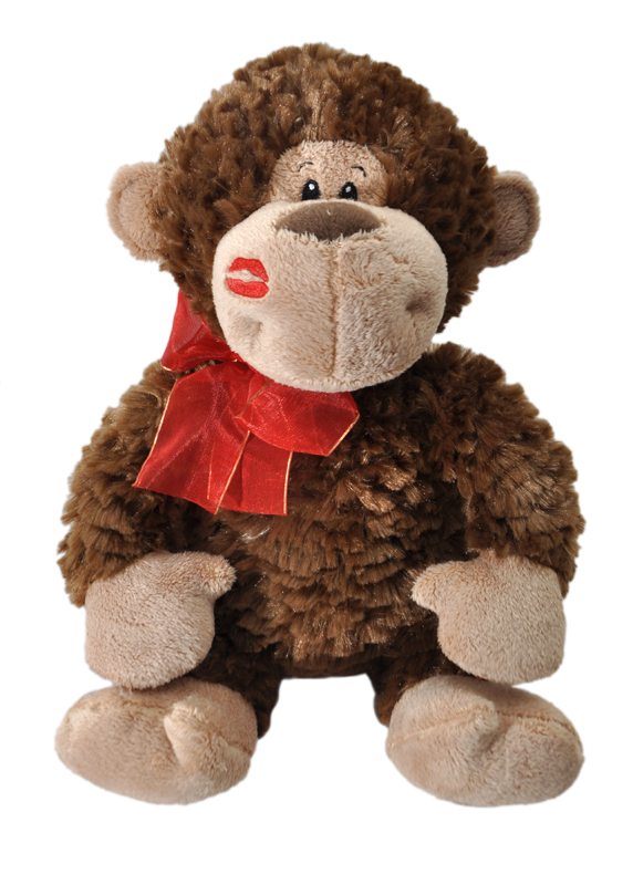 The Petting Zoo: Chocolate Scented Valentine Monkey with Kiss
