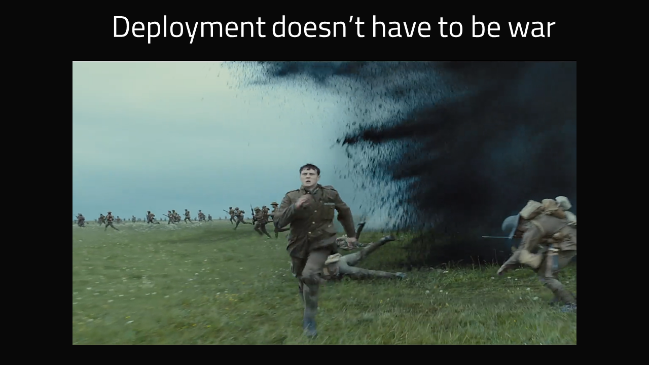 Deployment doesn't have to be war