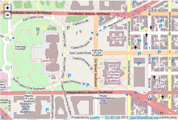 Map of Washington DC