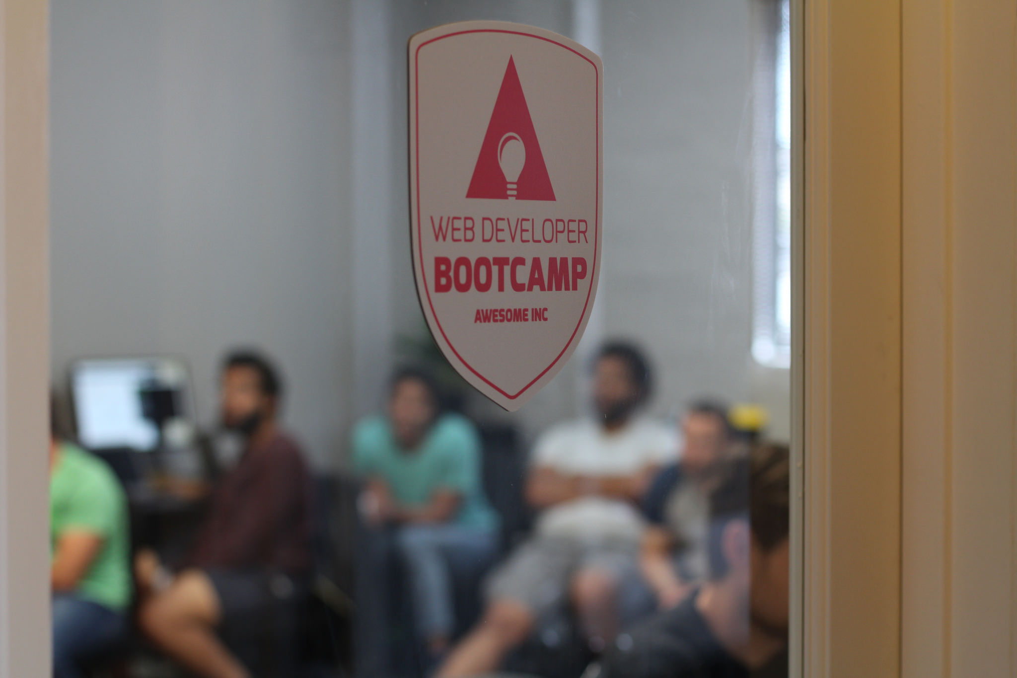 Awesome Inc Bootcamp classroom doorway