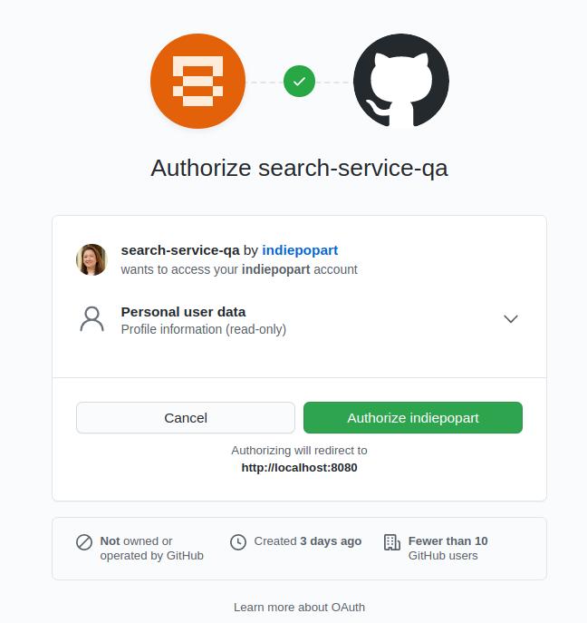 GitHub Authorization Page