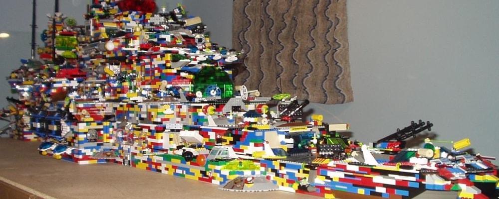 Giant Lego battleship.
