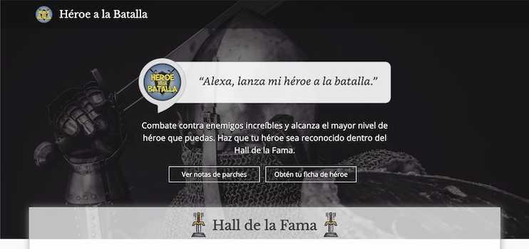 Alexa, lanza mi héroe a la batalla