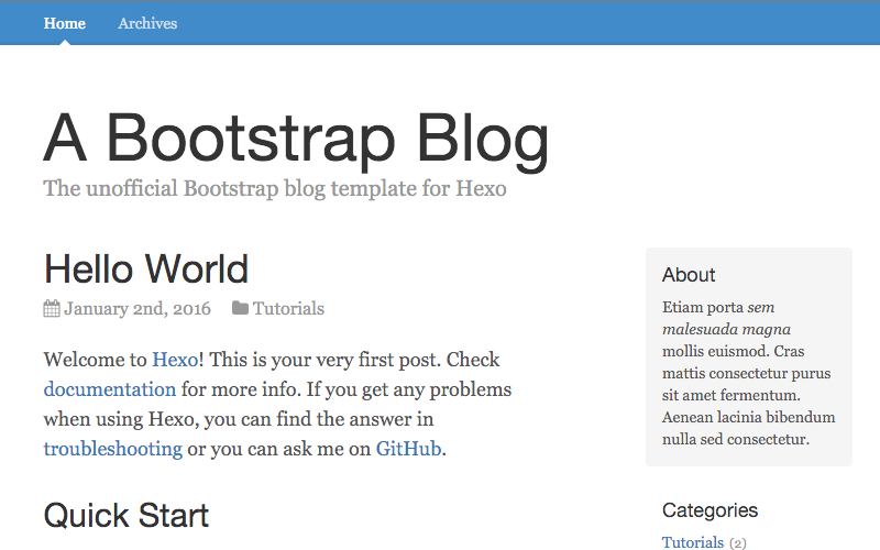 Bootstrap-Blog