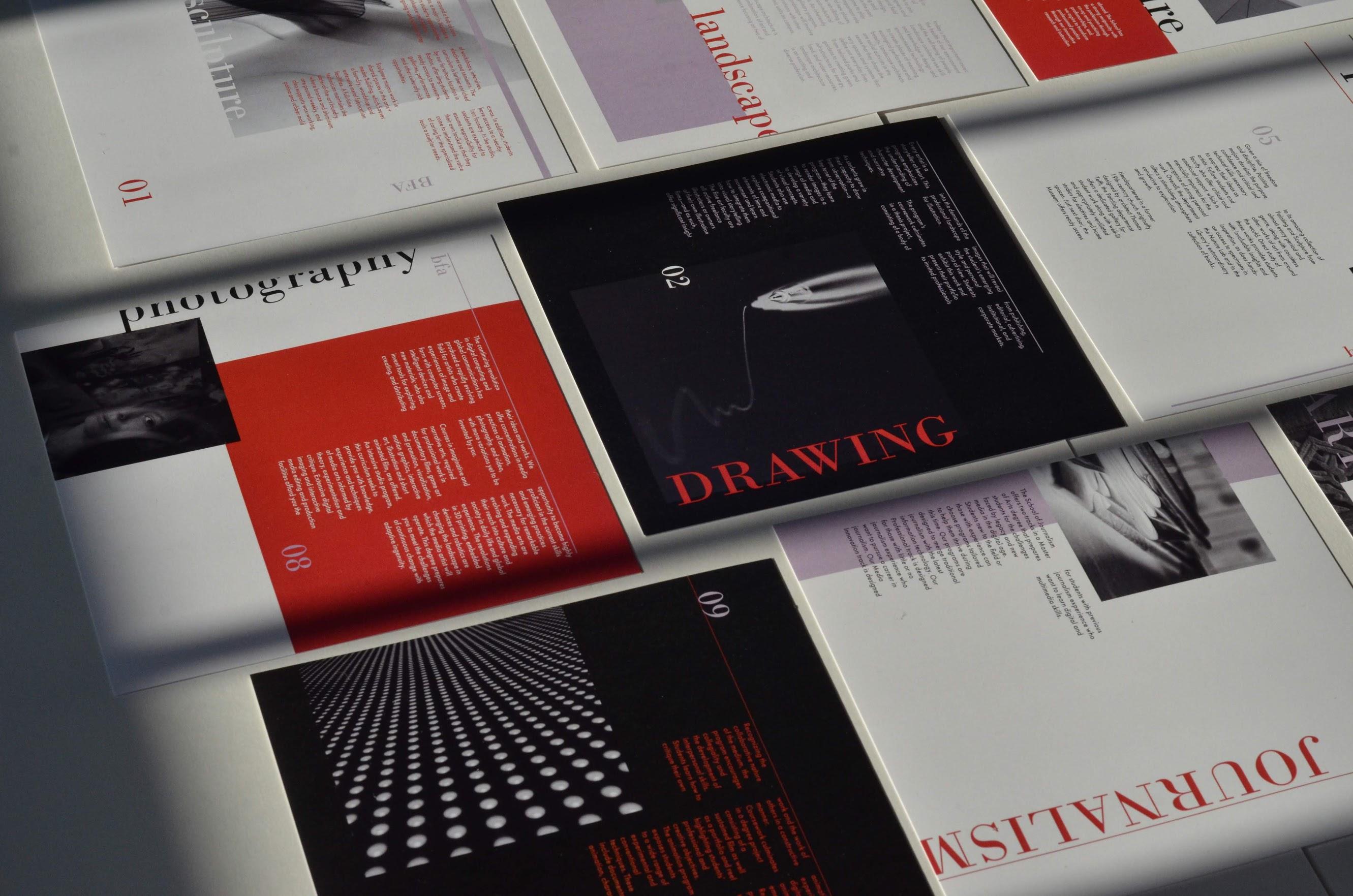 a card advertising a part of an art school