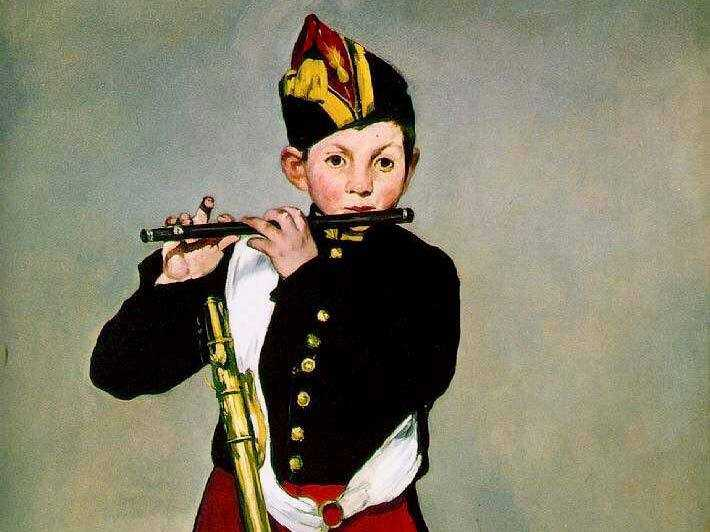 Manet never expressly accepted that Leon was his son, but he painted a number of pictures of him including the Fifer.