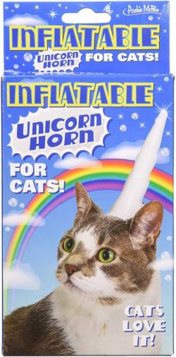 Inflatable Cat Unicorn Horn