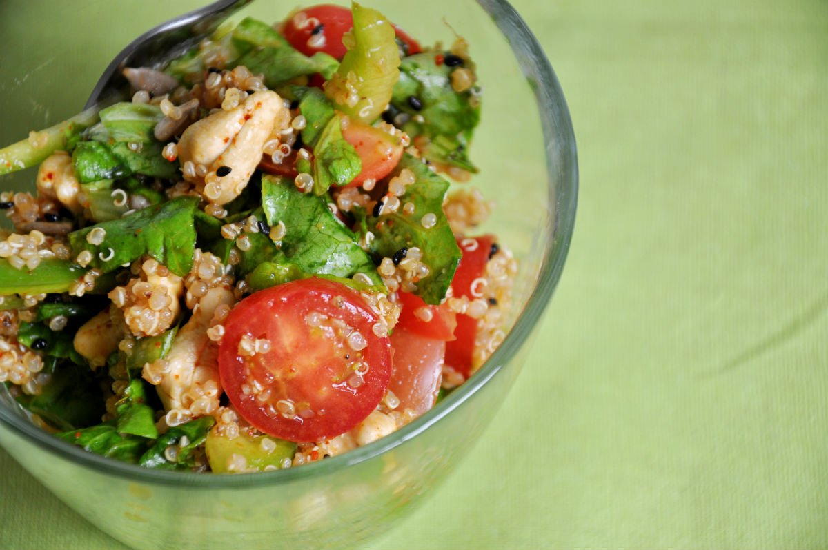 Quinoa salad with Asian Dressing