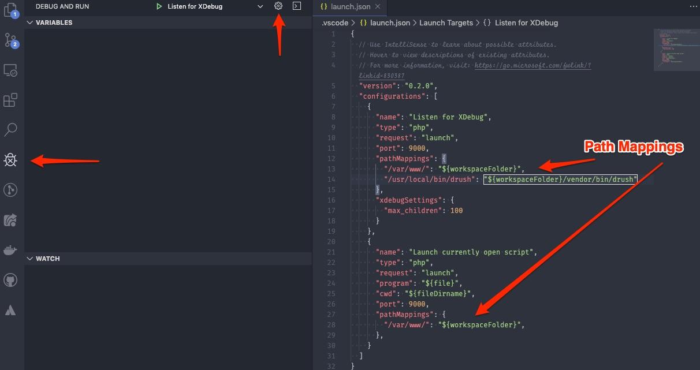 Visual Studio Xdebug Settings