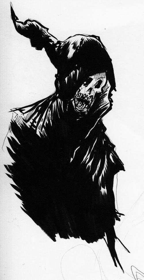 Sad Grim Reaper Sketch