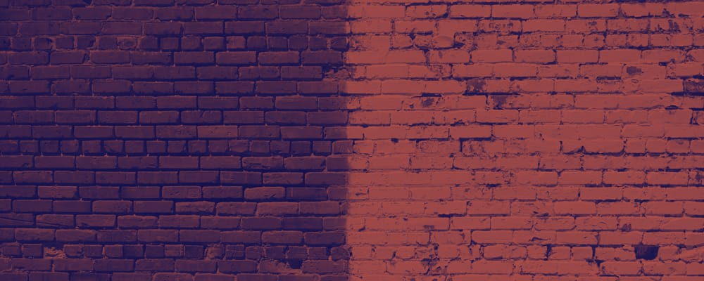 brick wall with two distinct colors