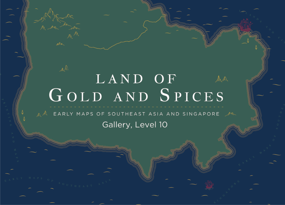 An illustrated map with the title Land of Gold and Spices
