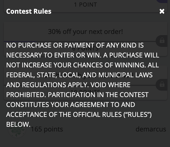 Contest rules inside a contest box.