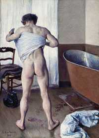 'Man at His Bath', by Gustave Caillebotte (1848–1894) in 1884, oil on canvas