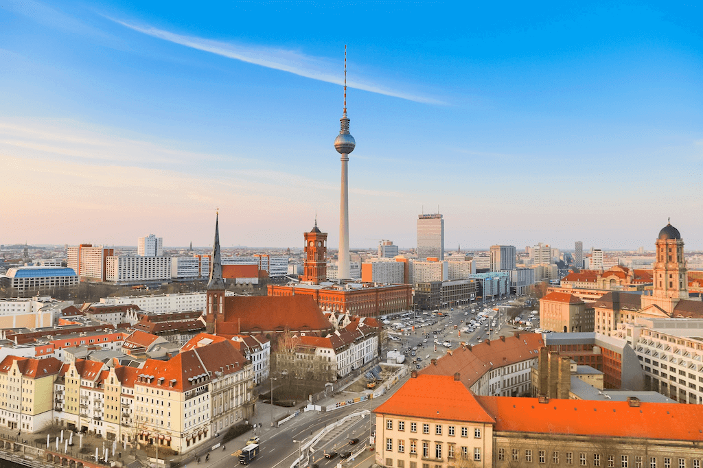Drone picture of Berlin