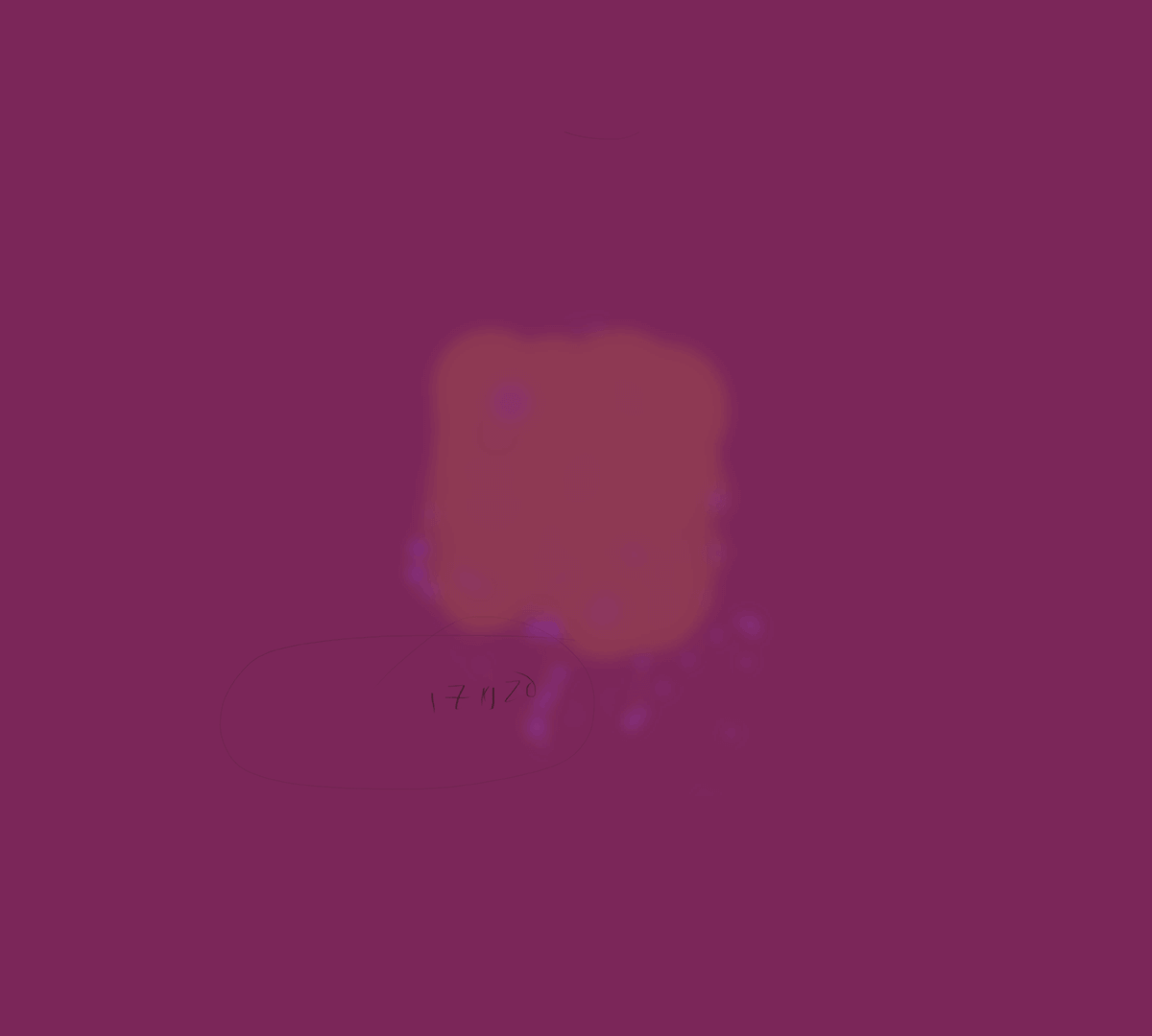 Evaporating browser stains in Rothko sienna on deep magenta background.