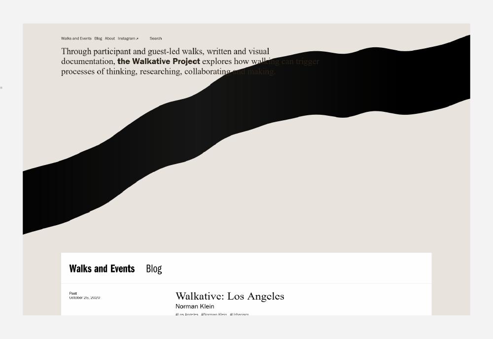 Walkative website screenshot