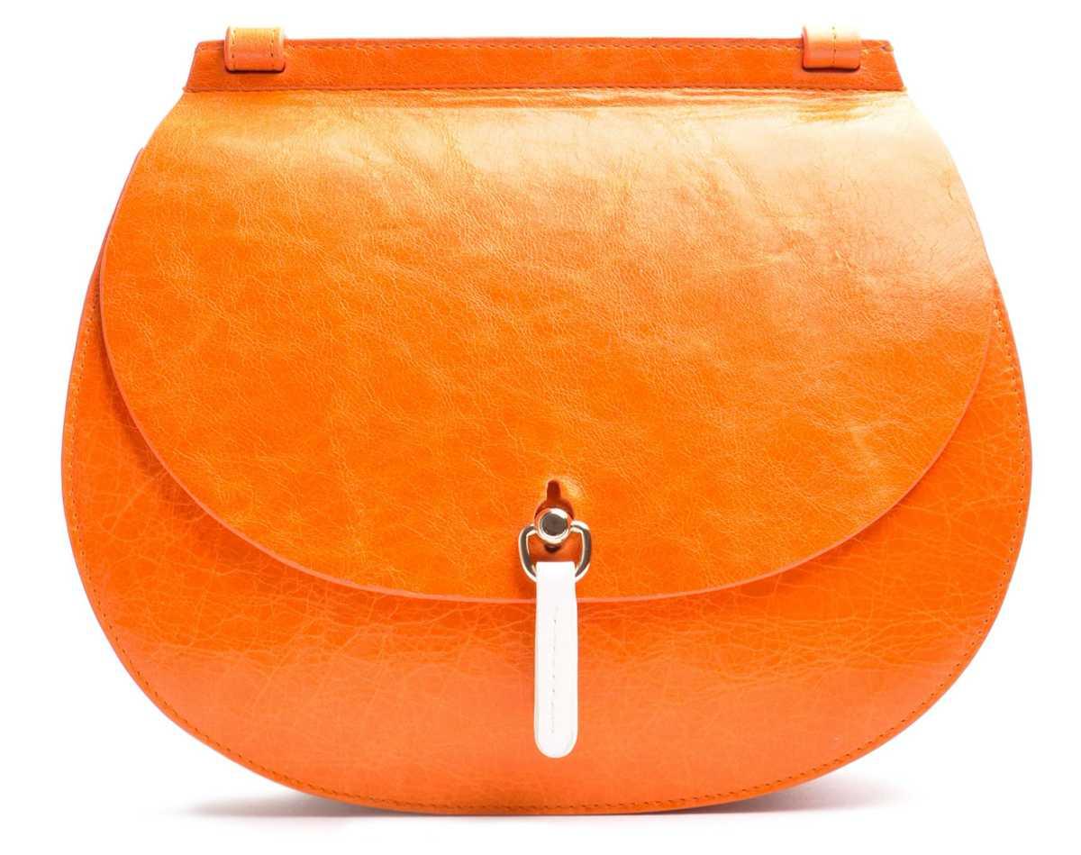 SADDLE Shoulderbag large – mandarino, brandy