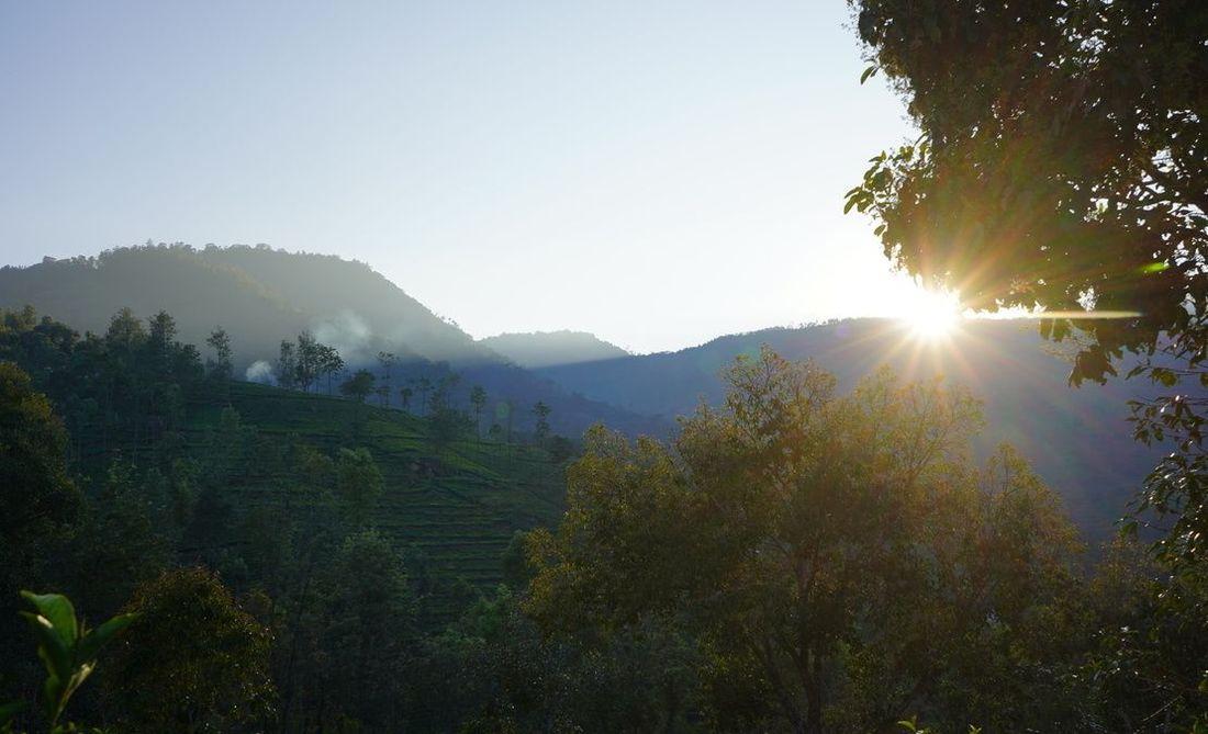 The sunset as seen from Vista Chiaro in Halakarai village