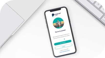 Preferred Lease mobile app on iPhone