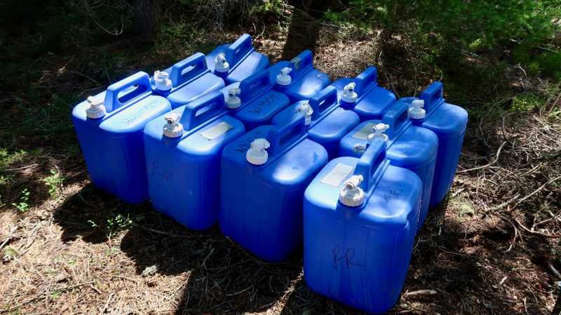 Trail magic water cache