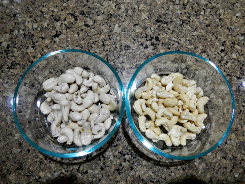 Soaked vs Dry Cashews