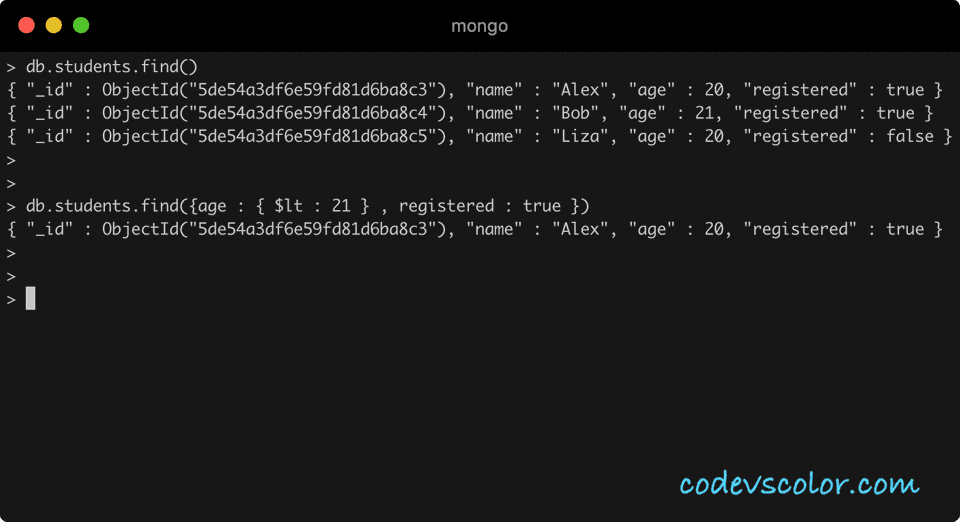 MongoDB multiple query conditions